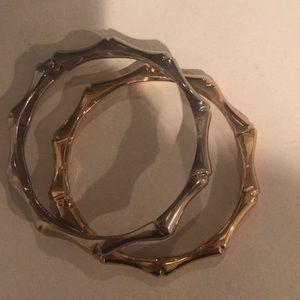 Jewelry - Gold silver bracelet bangles